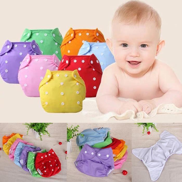 Soins bébéBébé 7pc - ensemble nouveau-né couches réutilisables couches lavables couche lavable ZBY90321550_wat