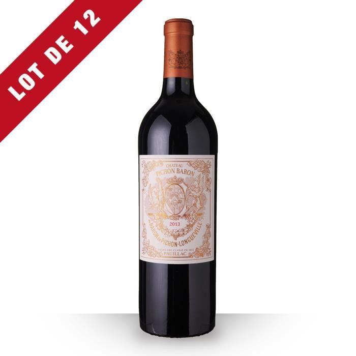 12X Château Pichon Longueville Baron 2013 Rouge 75cl AOC Pauillac - Vin Rouge
