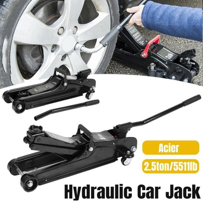 Cric hydraulique • 2.5 tonnes • compact et robuste • Cric hydraulique voiture véhicule levée 80-380mm -RUI