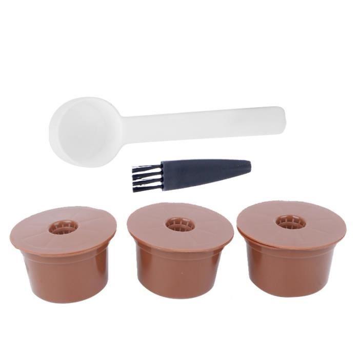 Capsule de café rechargeable réutilisable, non toxique avec cuillère et brosse bon effet filtrant Cafe shop Office Restaurant