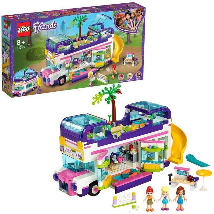 Jeux de construction LEGO Friends, Le bus de l'amitié avec piscine et toboggan, Ensembles de vacances d'été pour 8 ans e 52816