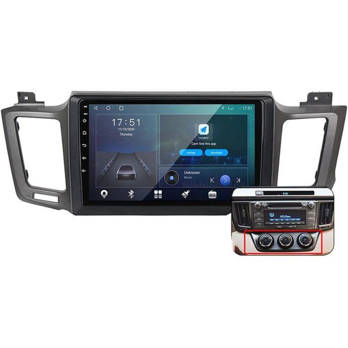 Android 10 9 Pouces Stereo Multimedia GPS Navigation pour Toyota RAV4 4 2012-2018 avec FM RDS Autoradio, Soutient DSP-BT Main L 504