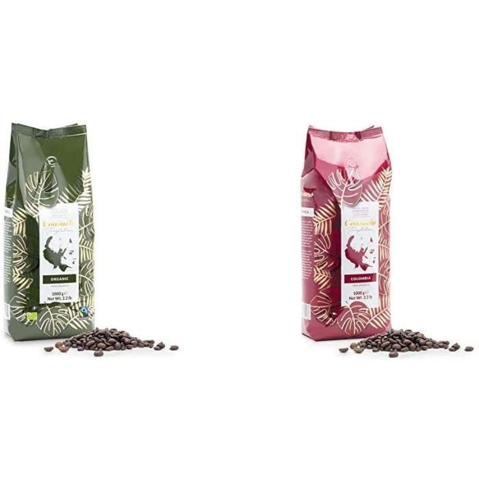 Café en grains Consuelo bio et issu du commerce équitable 1 kg & Café Colombia Consuelo en grains 1 kg