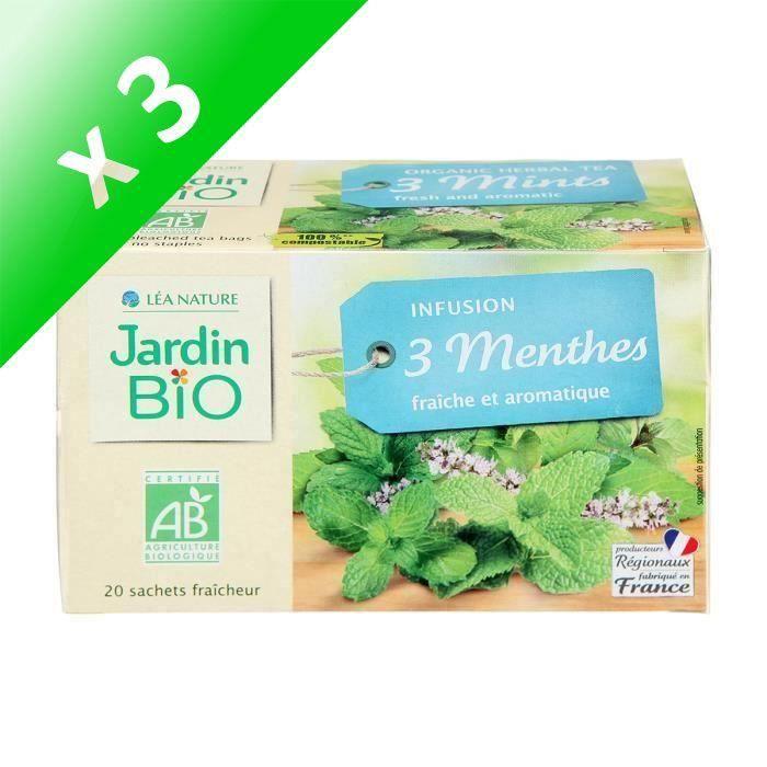 [LOT DE 3] JARDIN BIO Infusion 3 menthes bio - 30 g