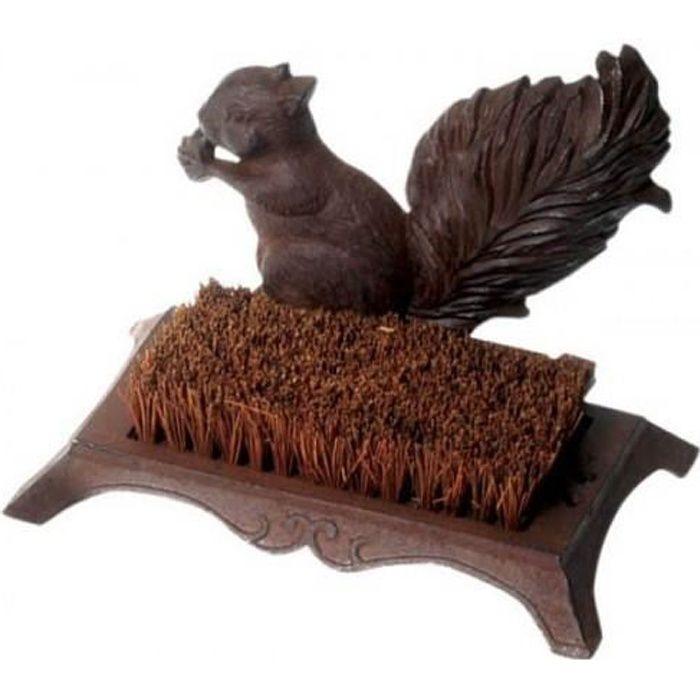 Brosse décrottoir semelles fonte écureuil