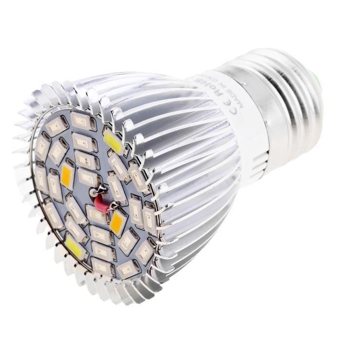 Spectre Complet E27 36W AC220V 72 LEDs LED Cultiver Ampoule hydroponique Delaman Grow Lamp Bulb