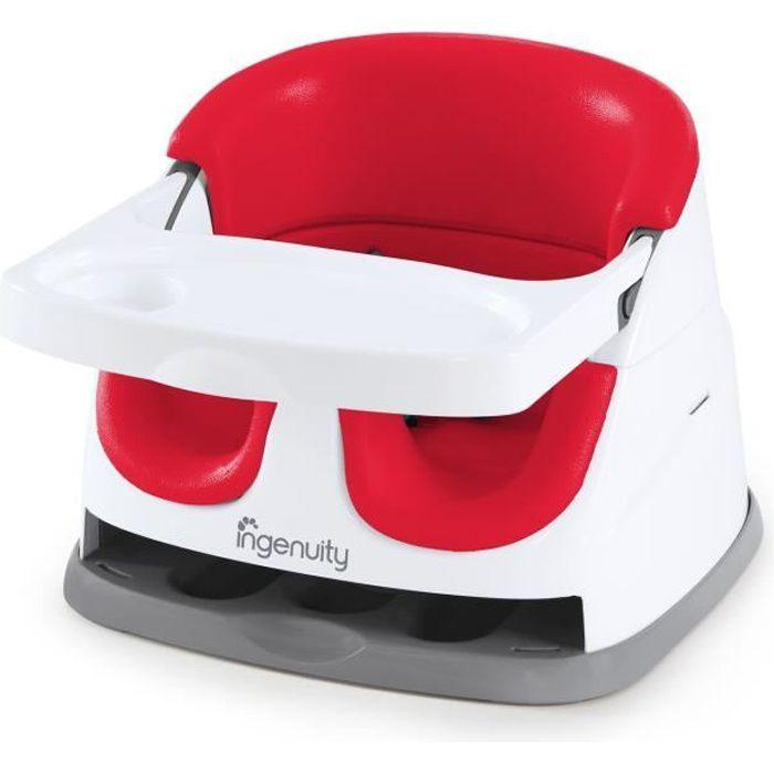 ING réhausseur de chaise Baby Base 2en 1 - rouge coquelicot