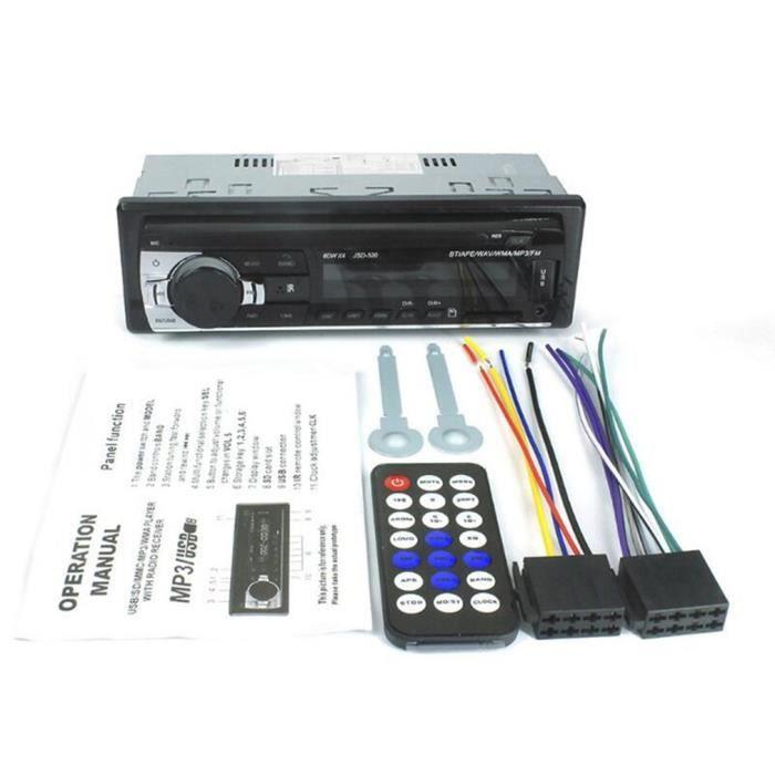 Autoradio Autoradio Autoradio Radio FM Aux Input Receiver USB JSD-520 12V In-dash 1 Din, noir