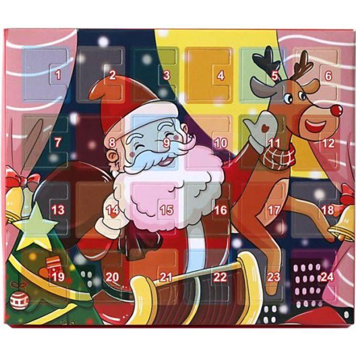 1 Set Advent Calendar Christmas Countdown DIY Bracelet Jewelry Gifts chocolat-bonbon confiserie chocolat