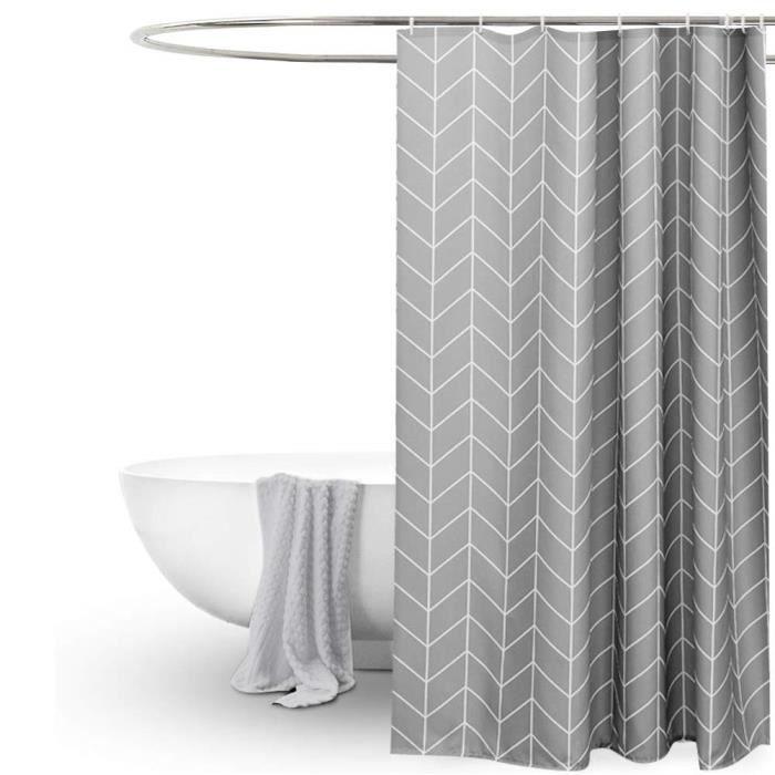Rideau de Douche Tissu imperméable, Rideau Douche, Rideau de Douche Long Anti-moisissure, décoration de 150 * 180cm