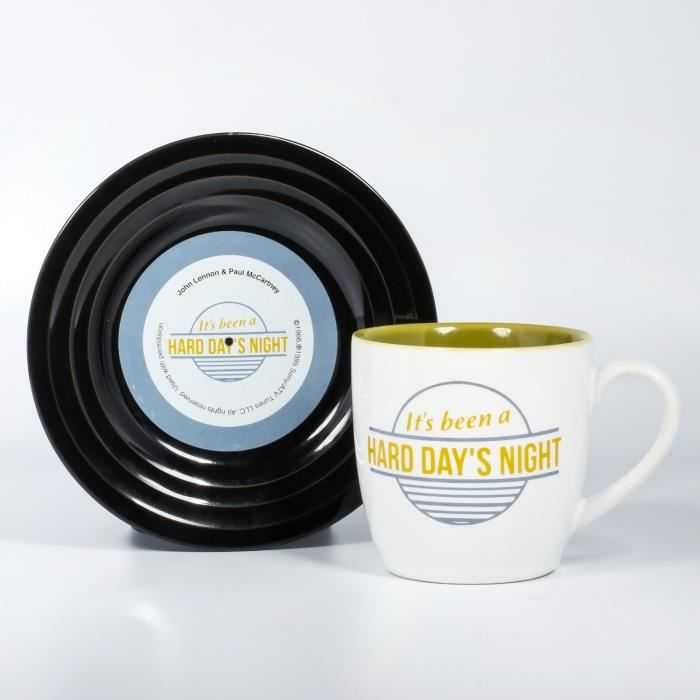 LYRICAL MUG L&M Pack Mug et Soucoupe - Hard Day's Night