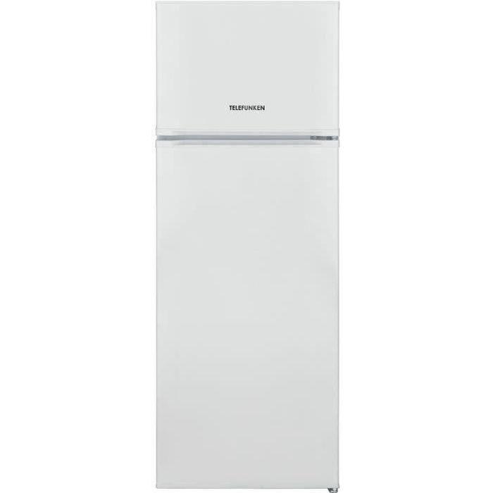 TELEFUNKEN R2P263FW - Réfrigérateur congélateur haut - 212 L (170,5+41,5) - Froid Statique - L 54 x H 144 cm - Blanc
