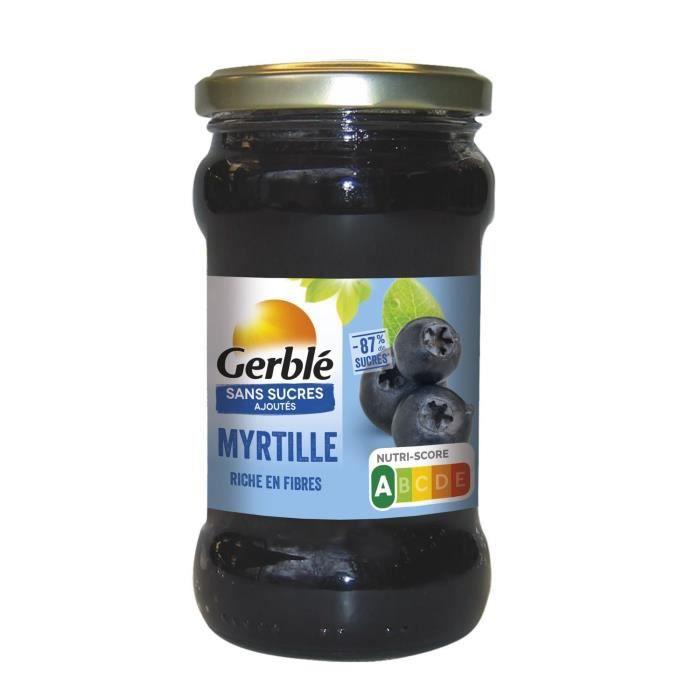 GERBLE Confiture de myrtille sans sucres ajoutés - 320 g