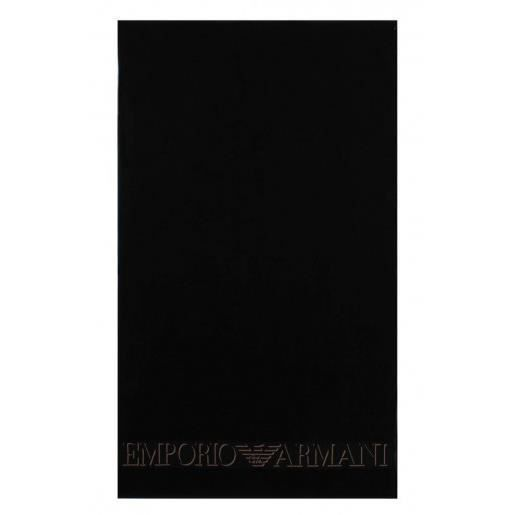 armani serviette de plage noire couleur noir achat vente armani serviette de plage n. Black Bedroom Furniture Sets. Home Design Ideas