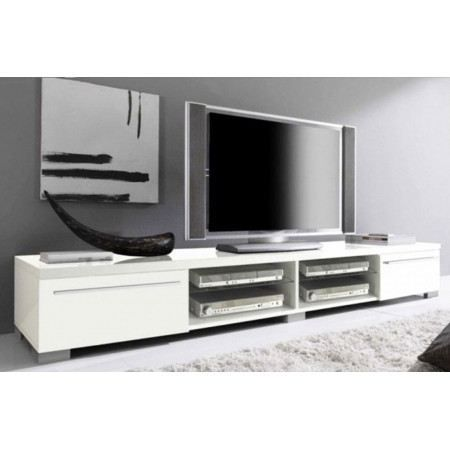 meuble tv design blanc laqu cavalli 210 cm achat vente meuble tv meuble tv design cavalli. Black Bedroom Furniture Sets. Home Design Ideas