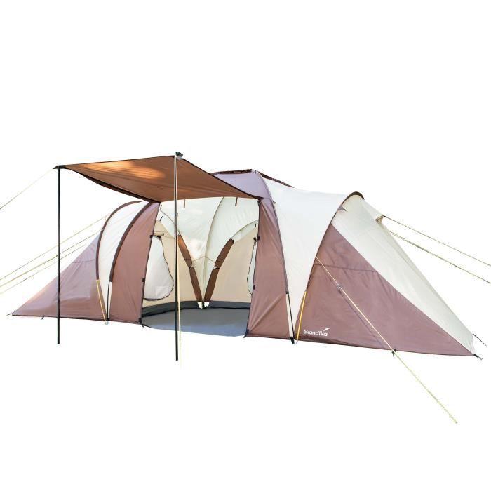 SKANDIKA Tente de camping familiale DAYTONA 6 - 6 personnes - 530x370cm...
