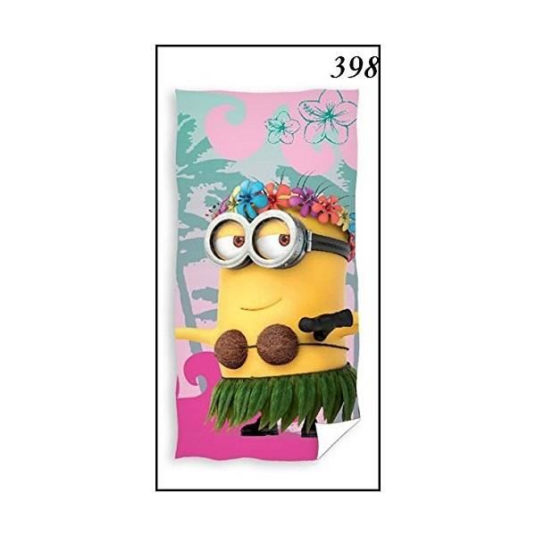 serviette de bain minion achat vente serviette de bain minion pas cher les soldes sur. Black Bedroom Furniture Sets. Home Design Ideas