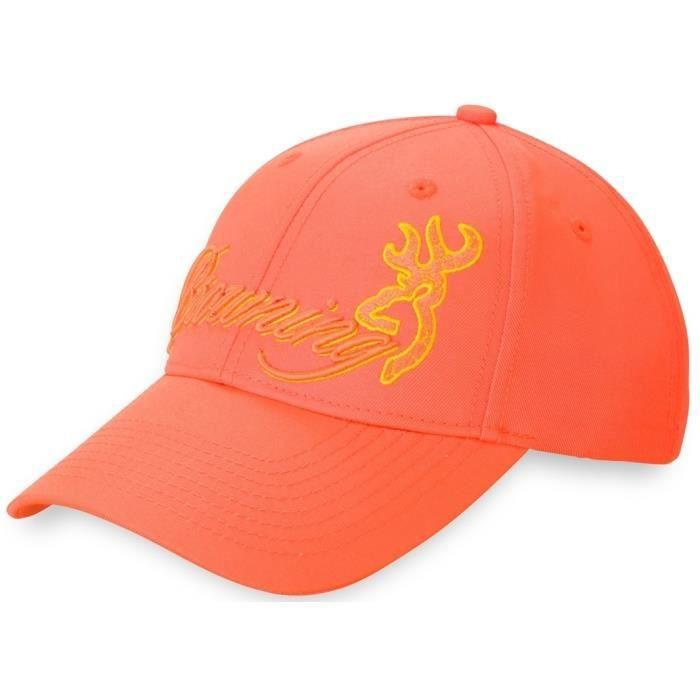 casquette femme orange