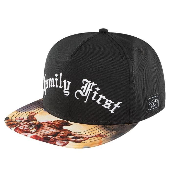 fcde08e0f992a Cayler   Sons Homme Casquettes   Snapback Family First noir Réglable ...