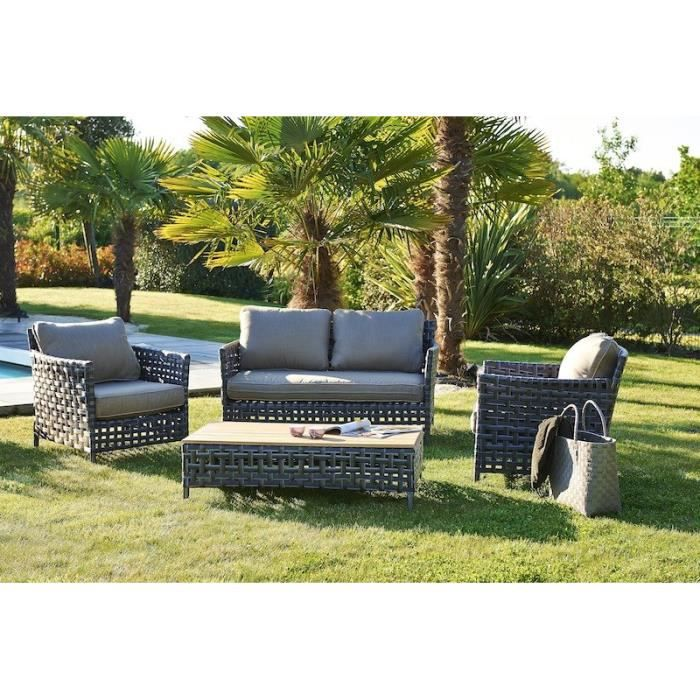 salon jardin en resine tressee riade garden green achat vente salon de jardin salons de. Black Bedroom Furniture Sets. Home Design Ideas