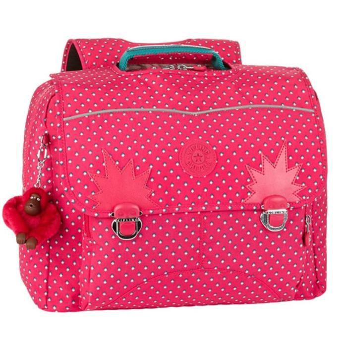 Cartable Kipling Iniko Pink Summer Pop 40 CM