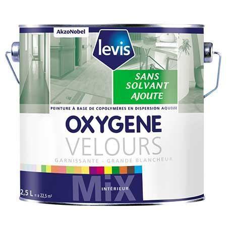Oxygene Velours Blanc 15l Peinture 0 De Solvant Ajouté D Aspect Velours Pour Murs Intérieurs Levis Blanc
