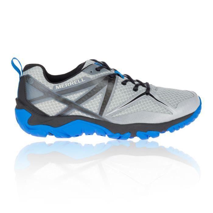 Merrell Homme MQM Flex GORE-TEX Chaussures De Marche Noir Bleu Sports Outdoors