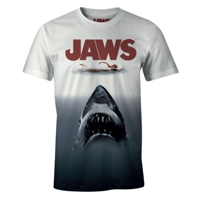 Grand Requin Blanc Revêtement-Plongée Requin T-shirt Homme Toutes Tailles