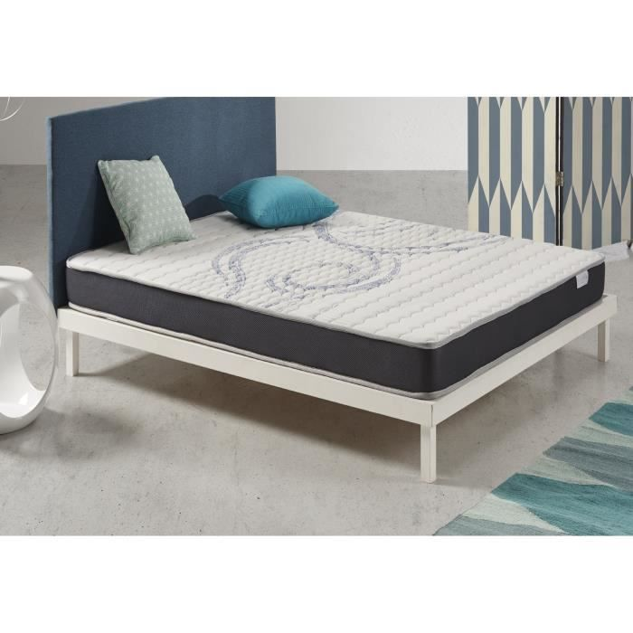 matelas senso fresh 140x190 cm blue latex 7 zones visco gel 2009928191577 achat vente. Black Bedroom Furniture Sets. Home Design Ideas