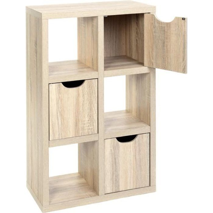 biblioth que 6 cubes andy l 60 x p 30 x h 9 achat. Black Bedroom Furniture Sets. Home Design Ideas