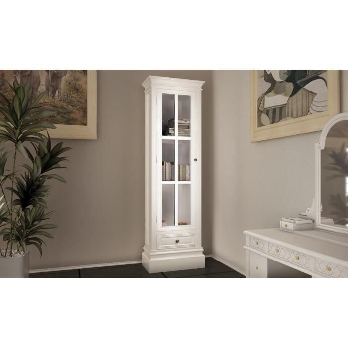 ARMOIRE DE CHAMBRE Armoire vitrine avec un tiroir