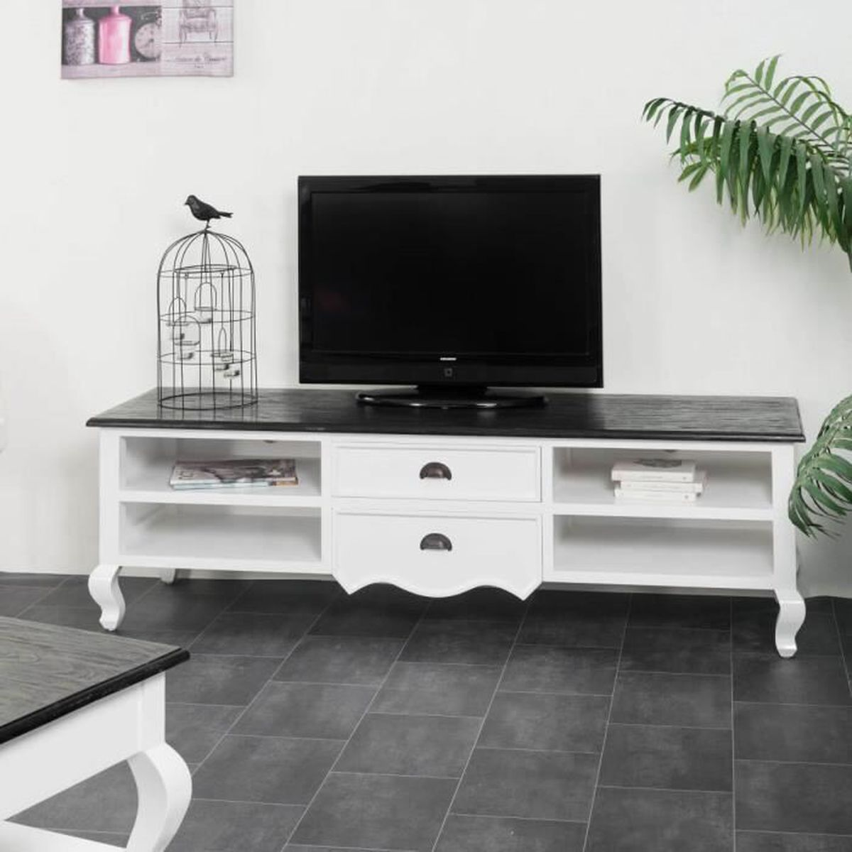 meuble tv acajou achat vente meuble tv acajou pas cher cdiscount. Black Bedroom Furniture Sets. Home Design Ideas
