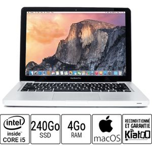 Vente PC Portable Ordinateur portable APPLE MACBOOK PRO 13 core i5 4 go ram 240 go disque dur  SSD pas cher