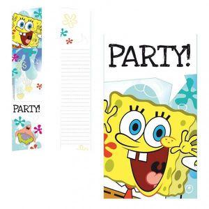 FAIRE-PART - INVITATION 6 Cartes d'invitaion Bob l'éponge™