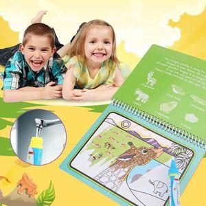 JEU DE COLORIAGE - DESSIN - POCHOIR Livre de coloriage réutilisable avec stylo à l'eau