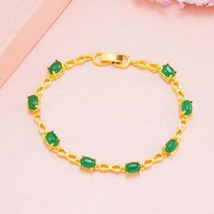 6.5 in environ 16.51 cm Round Cut autrichien cristal rose saphir 18K Tennis Bracelet