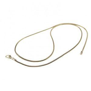 CHAINE DE COU SEULE 470-45cm serpent chaîne-585-blanc-or 24mm