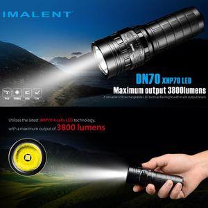 LAMPE DE POCHE IMALENT DN70 XHP70 3800LM 26650 lampe de poche LED