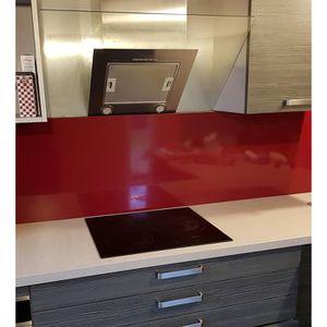 CREDENCE Crédence Rouge Pourpre - H 20 cm x L 40 cm-Fond de
