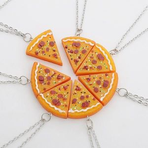 SAUTOIR ET COLLIER Bijoux Fashion Pizza Slice Collier Amitié