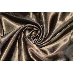 TISSU Tissu Satin Polyester Marron -Au Mètre