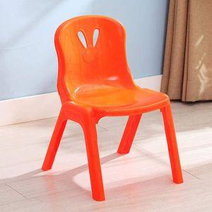 Orange Homyl Chaise de Meubles denfants Tabouret Rond