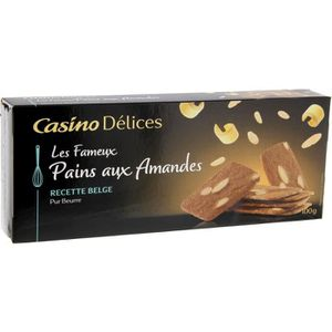 BISCUITS SECS CASINO DELICES Pains aux amandes -  Pur beurre - 1