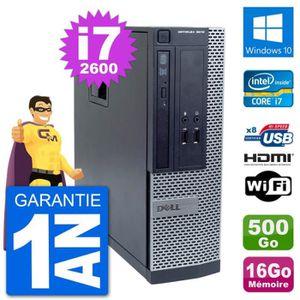 ORDI BUREAU RECONDITIONNÉ PC Dell OptiPlex 3010 SFF i7-2600 RAM 16Go Disque