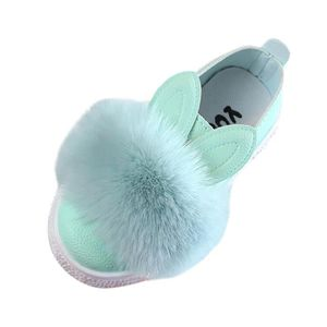 Enfants bébé lapin oreilles Sneaker Hiver Chaud Anti-Dérapant unique Chaussures L