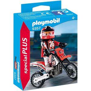 UNIVERS MINIATURE PLAYMOBIL 9357 - Action - Pilote de motocross - No