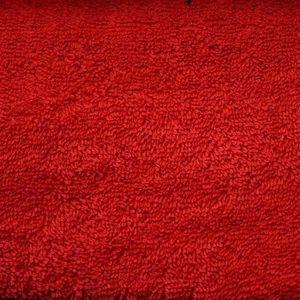 TISSU Tissu Eponge Bouclette Rouge - Tissu au mètre - Qu
