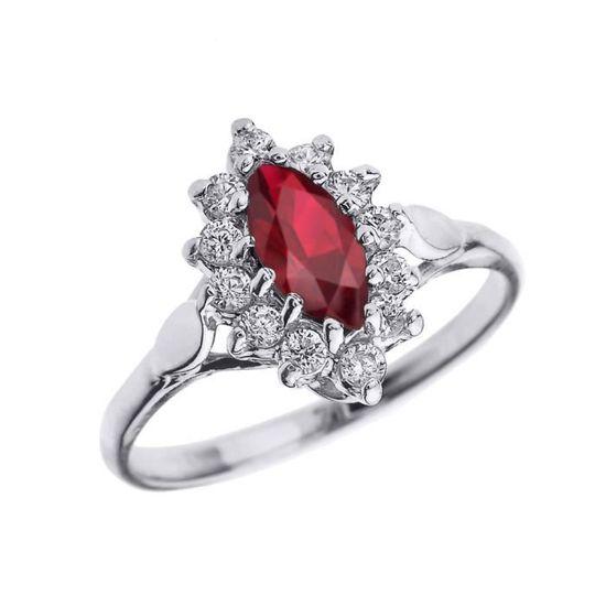 bague diamant rouge