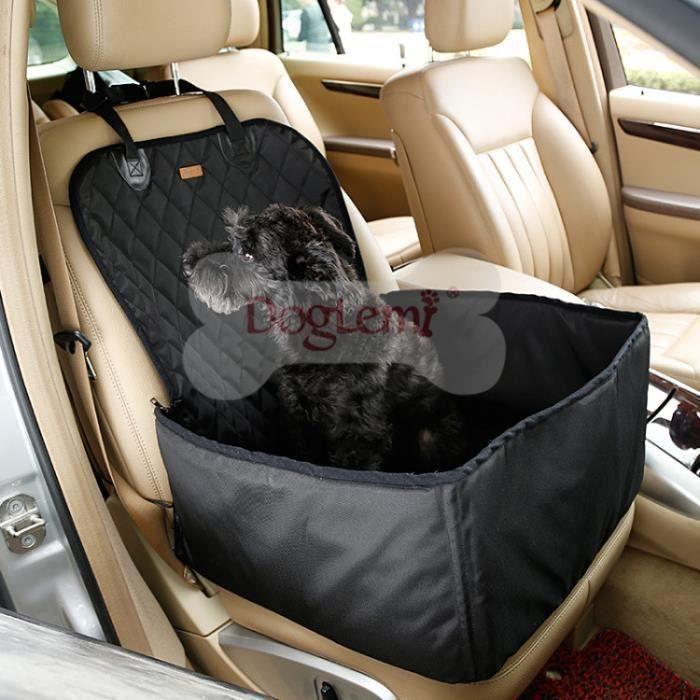 Siège de voiture pour chien Noir 45x45x58cm