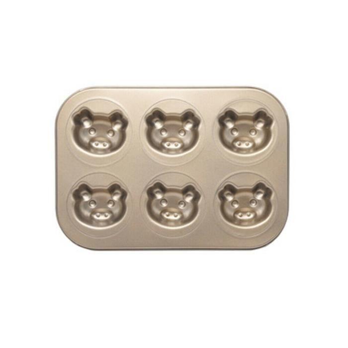 ensemble d'accessoires de cuisine Mini moule à gâteau Madeleine, moule à biscuits ovale antiadhésif à 6 cavités go5307